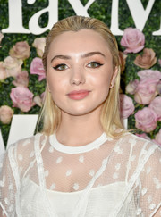 Peyton List topped off her look with a slicked-back hairstyle when she attended the 2017 Face of the Future event.