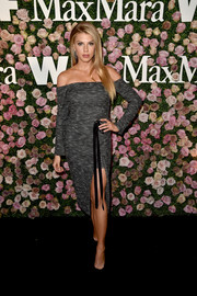 Charlotte McKinney was trendy in a gray off-the-shoulder dress at the 2017 Face of the Future event.