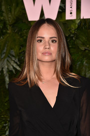 Debby Ryan wore her hair in a sleek layered cut at the Max Mara WIF Face of the Future event.