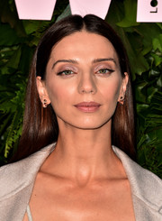 Angela Sarafyan sported a glossy straight 'do at the Max Mara WIF Face of the Future event.