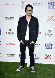 Chord rocked a dark blue fitted utility jacket at the Maxim Hot 100 Party in Hollywood.