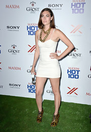 C.C. Sheffield's bustier-style mini dress looked super sexy on the star at the Maxim Hot 100 Party.