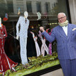 Manolo Blahnik Unveils His Window Displays at London's Mayfair Hotel