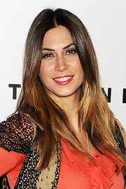 Melissa was in on the ombre trend with these shining tresses.