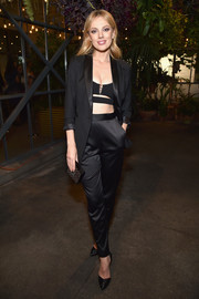 Bar Paly polished off her look with a tiny box clutch.