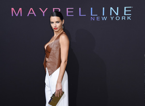 More Pics of Adriana Lima Red Lipstick (1 of 9) - Makeup Lookbook - StyleBistro [fashion model,clothing,dress,fashion,shoulder,beauty,skin,gown,cocktail dress,model,adriana lima,nyfw,new york,new york city,maybelline,kick-off party]