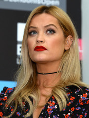 Laura Whitmore's matte red lipstick totally brightened up her beauty look!