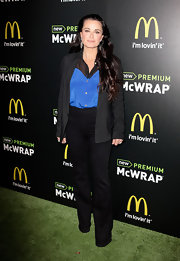 Kyle Richards sported these basic black slacks at the McDonald's Premium McWrap Launch party.