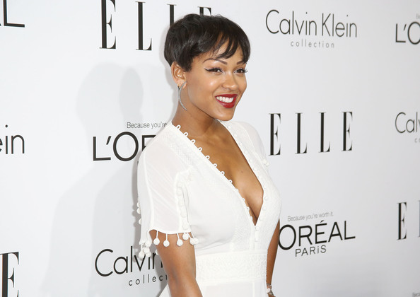 More Pics Of Meagan Good Short Cut With Bangs 5 Of 16 Short Hairstyles Lookbook Stylebistro