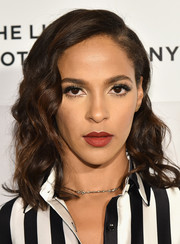 Megalyn Echikunwoke attended the Tribeca Film Fest premiere of 'The Meddler' looking lovely with her shoulder-length curls.