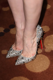 Jessica Chastain added some edge to her look with this pair of silver studded heels.