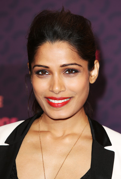 More Pics of Freida Pinto Ponytail (2 of 10) - Freida Pinto Lookbook - StyleBistro
