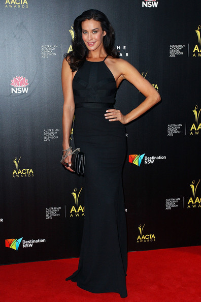Megan Gale Evening Dress