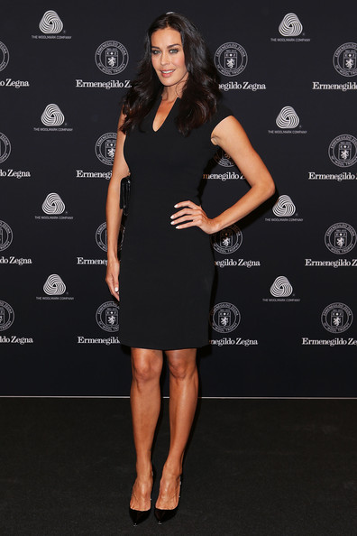 Megan Gale Little Black Dress