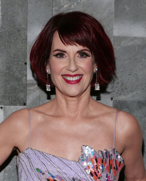 Megan Mullally Bob [carnegie hall presents ``guys and dolls,guys and dolls,hair,face,hairstyle,eyebrow,lip,chin,beauty,brown hair,hair coloring,blond,megan mullally,remi,new york city,party,party]