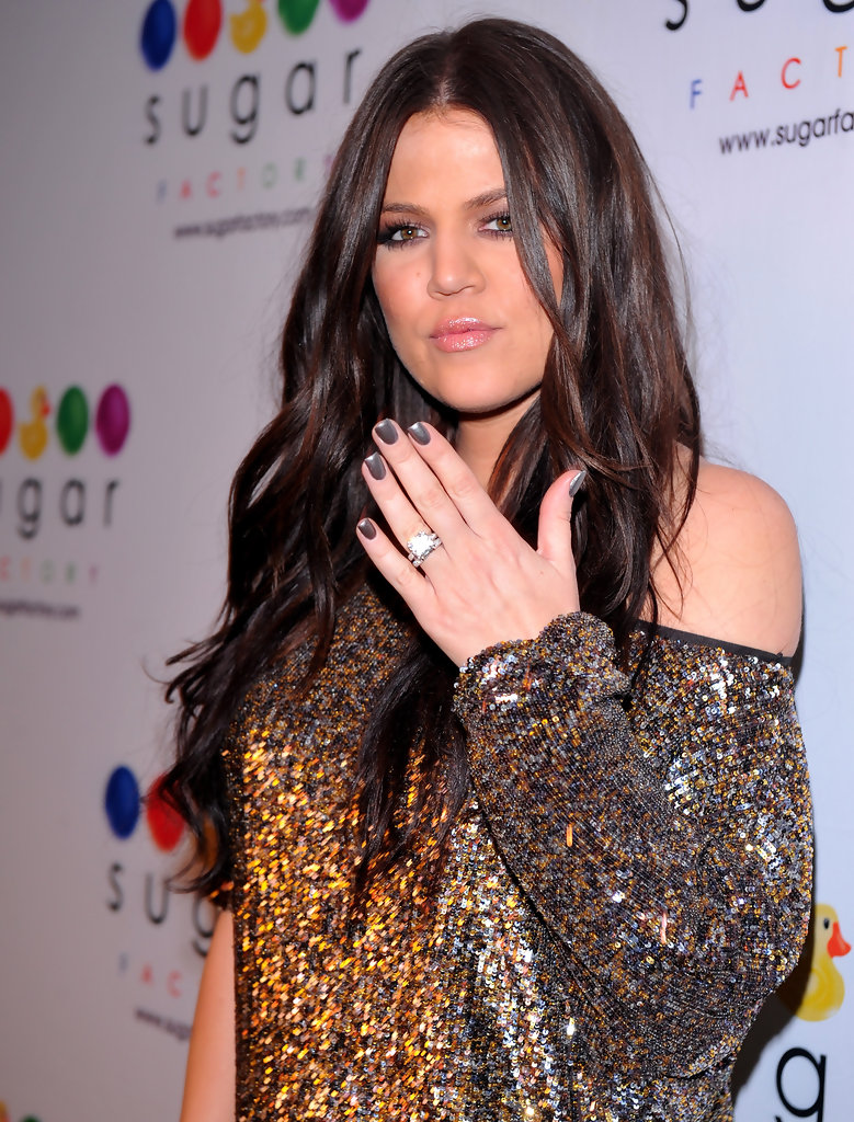 More Pics of Khloe Kardashian Metallic Nail Polish (9 of 15 ...
