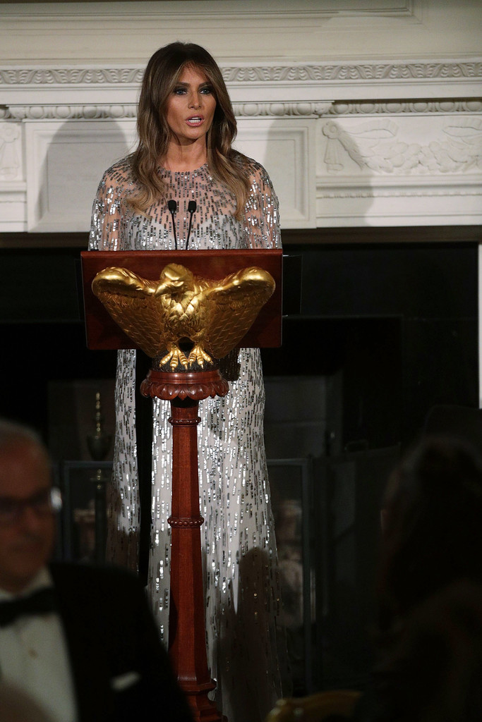 Melania Trump Sequin Dress Melania Trump Looks Stylebistro