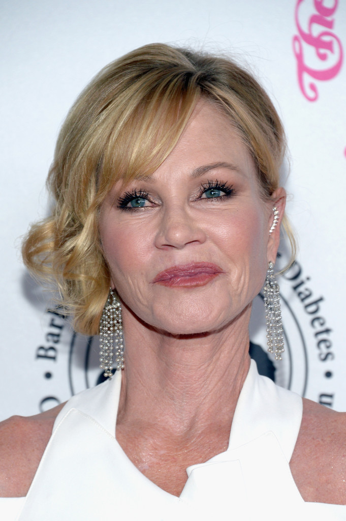 Melanie Griffith Side Swept Curls Newest Looks Stylebistro