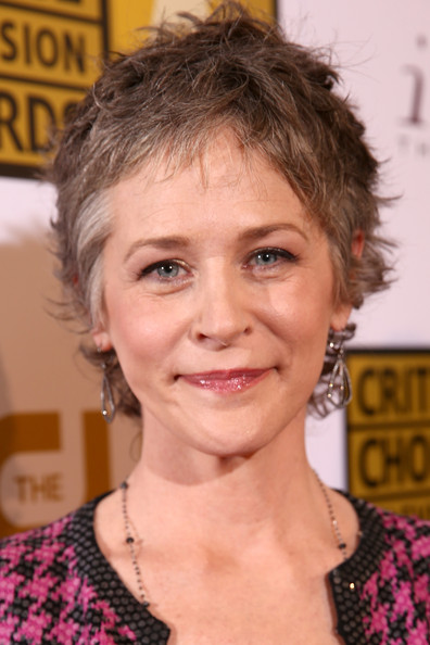 Melissa McBride Messy Cut [hair,face,hairstyle,eyebrow,chin,forehead,blond,pixie cut,brown hair,hair coloring,beverly hills,california,the beverly hilton hotel,critics choice television awards,arrivals,melissa mcbride]