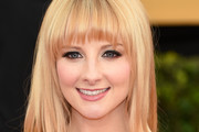 Melissa Rauch Long Straight Cut with Bangs