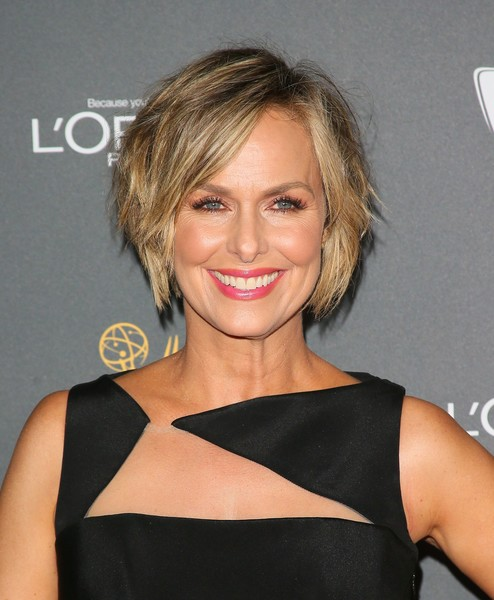 Melora Hardin Bob [hair,face,hairstyle,blond,eyebrow,chin,beauty,shoulder,lip,brown hair,arrivals,performers,performer nominees,melora hardin,lacroix,jean baptiste,emmy award,television academy hosts reception for emmy,afp,television academy reception]