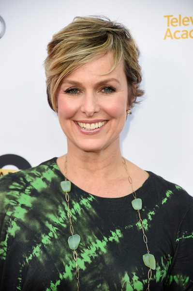 Melora Hardin Layered Razor Cut [transparent: anatomy of an episode,hair,face,hairstyle,blond,eyebrow,beauty,chin,smile,forehead,lip,arrivals,melora hardin,california,los angeles,the theatre,ace hotel,television academy]