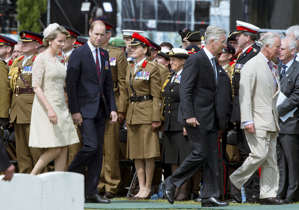 More Pics of Queen Mathilde of Belgium Cocktail Dress (1 of 16) - Dresses & Skirts Lookbook - StyleBistro [the royal family attend the passchendaele commemorations,military officer,uniform,military uniform,event,military organization,military,military rank,military person,soldier,army,members,mathilde of belgium,charles,philippe of belgium,duke,commemorations,l-r,belgium,ceremony]