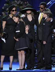 Michael Jackson's daughter wore a simple black cardigan sweater during his memorial service.