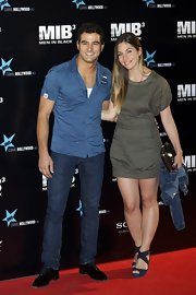 Leire Martinez attended the 'Men In Black 3' premiere wearing a sexy mini dress.