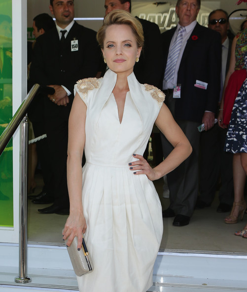 Mena Suvari Hard Case Clutch