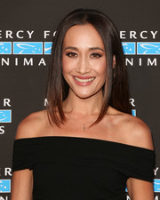 Maggie Q looked simply elegant with her long straight tresses at the Hidden Heroes Gala.