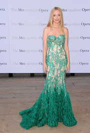 Heather Graham took our breath away with this beaded nude and green strapless gown by Naeem Khan during the 'Eugene Onegin' opening.