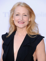 Patricia Clarkson went for simple styling with this side-parted wavy cut during the 'Eugene Onegin' opening.