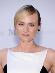 Diane Kruger sported a stark updo with side-swept bangs at the 'Eugene Onegin' opening.