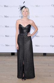 With its leather bodice, sweetheart neckline, and flowy skirt, Sophie Sumner's black strapless gown at the 'Eugene Onegin' opening was a perfect blend of edgy and glam.