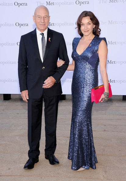Sunny Ozell brought major sparkle to the 'Eugene Onegin' opening with this sequined blue evening dress.