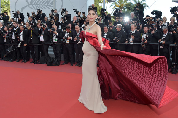 Araya Hargate in Alexis Mabille at the 2017 Cannes Film Festival