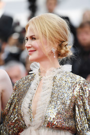 Nicole Kidman styled her hair into a messy low bun for the Cannes Film Festival screening of 'The Meyerowitz Stories.'