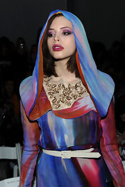 Charlotte Kemp Muhl went for high drama in pink and violet hued smoky eyes.