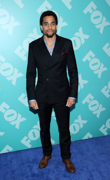 Michael Ealy Men's Suit [fox 2103,suit,clothing,formal wear,blue,tuxedo,turquoise,outerwear,fashion,human,premiere,michael ealy,programming presentation post-party,new york city,wollman rink - central park]