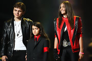 Paris Jackson wore a red and black leather jacket -- inspired by her late father Michael Jackson.