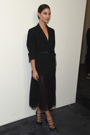 Lily Aldridge looked downright elegant in a black Michael Kors blazer during the label's fashion show.