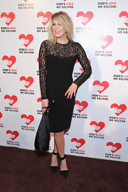 Alexandra Richards looked classically romantic in her long-sleeve lace LBD.