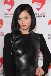 Leigh Lezark wore her raven hair in a simple side-parted bob for the Golden Heart Gala.
