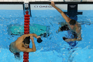 Michael Phelps Ryan Lochte Olympics Day 5 - Swimming