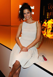 Shermine Shahrivar attended the Michalsky Style Nite wearing a pair of gold dangle earrings.