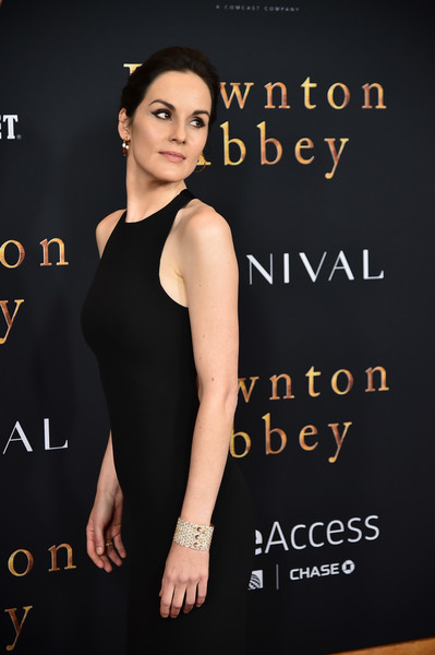 Michelle Dockery Cuff Bracelet [downton abbey,premiere,little black dress,fashion,dress,font,neck,book cover,model,fashion model,cocktail dress,michelle dockery,new york,alice tully hall,lincoln center,premiere,new york premiere]