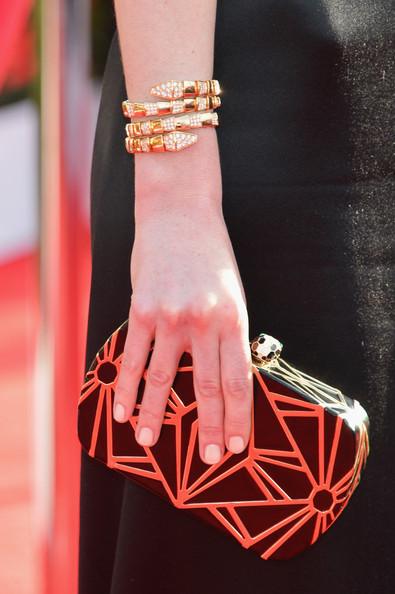 Michelle Dockery Hard Case Clutch [red carpet,red,orange,pink,bracelet,fashion,arm,jewellery,hand,finger,fashion accessory,michelle dockery,screen actors guild awards,fashion detail,california,los angeles,the shrine auditorium,19th annual screen actors guild awards]