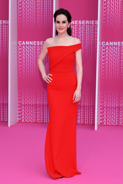 Michelle Dockery Off-the-Shoulder Dress