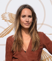 Louise Roe wore her hair down in edgy layers when she attended the LoveGold luncheon.